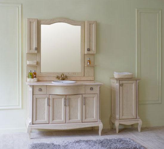 Бежевая мебель для ванной