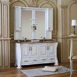 Мебель для ванной комнаты на два умывальника