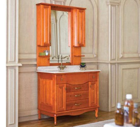 Оранжевая мебель для ванной